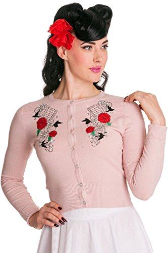 Hell-Bunny-Birdcage-Roses-Vintage-50s-Knit-Cardigan