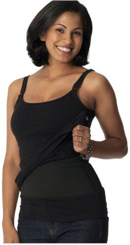 Glamourmom Nursing Bra Tummy Control Long Tank - Black - Medium (Glamourmom Nursing Bra Tank compare prices)