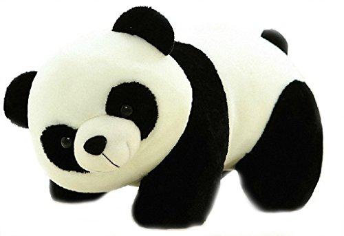 Ephemeral Cute Panda Toy Gift Birthday Soft Stuffed Animal  White,Black    26 Cm