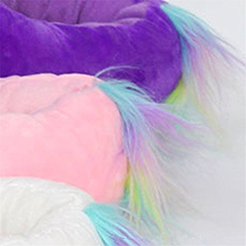 Cartoon Unisex Adulte Pantoufle Unicorn Femme Pink Souple Peluche Lumineux Slippers Chausson Hiver en Licorne vPWpSyxqwI