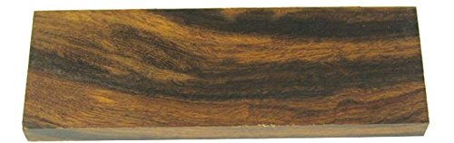 Set Ironwood - EW170 High Contrast Ironwood Knife Scales Set, 3/8 in x 1-5/8 in x 5 in Knifemaking