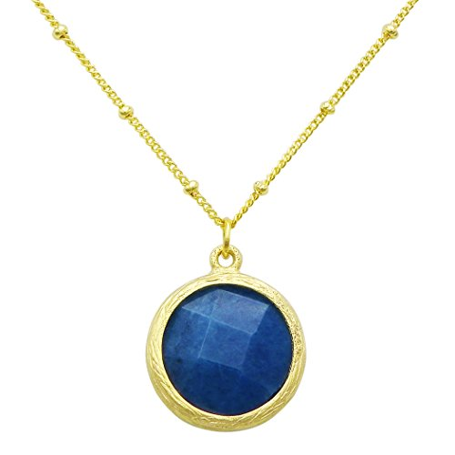 Rosemarie Collections Women's Natural Stone Dyed Jade Round Pendant Necklace - Macy's Round Rock