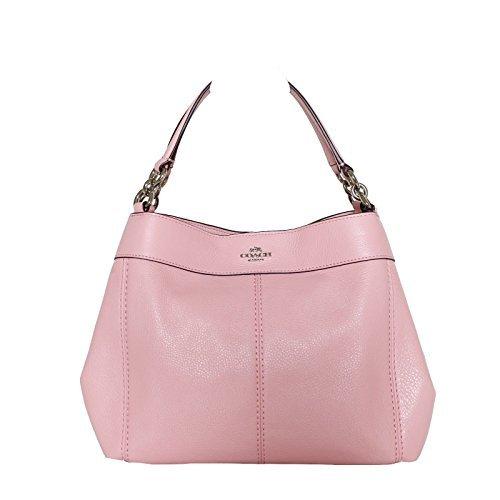 Coach Pebbled Leather Small Lexy Shoulder Bag Handbag, Blush 2