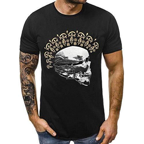 [해외]kemilove 남성 T 셔츠 두개골 스타 인쇄 짧은 소매 티셔츠 셔츠 O 목 t 셔츠 여름 티셔츠 캐주얼 셔츠 탱크 탑 블라우스 / kemilove Mens T Shirts Skull Star Print Short Sleeve Tees Shirt O-Neck Tshirts Summer T-Shirt Casual Shirts Tank Top...