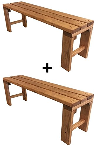 Panchina panca panchetta in legno 150x38.5x50cm color noce chiaro ...