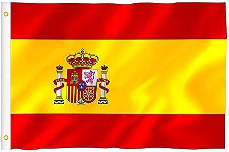 Bandera Nacional España 90 x 150 cm Flag: Amazon.es: Deportes y ...