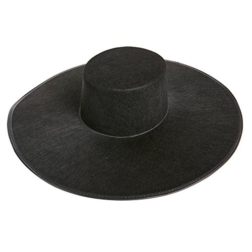 Amazon.com  Formation Wide Brim Black Costume Hat  Clothing a4d68300aa2