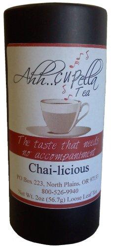 Ahh..Cupella Chai-Licious Premium Gourmet Tea, loose leaf, 2oz canister