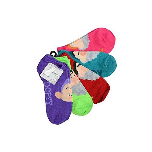 Disney's Snow White Dwarfs 5-pack No-Show Socks, Size 9-11 Shoe Size 4-10