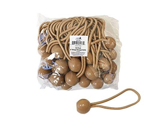 EZ Travel Collection 6'' Beige Bungee Balls (50-Pack),Standard by EZ Travel Collection