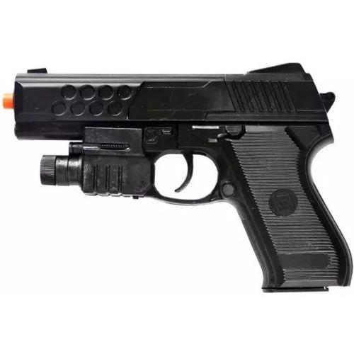 AIRSOFT SPRING PISTOL TACTICAL LASER SIGHT LED FLASHLIGHT HAND GUN w/ 6mm BBs (Laser Spring)