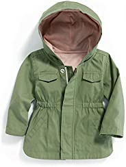 Cotton Hooded Canvas Utility Jacket for Baby