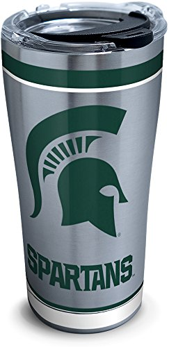 Tervis 1297301 Ncaa Michigan State Spartans Tradition Stainless Steel Tumbler With Lid, 20 oz, ()