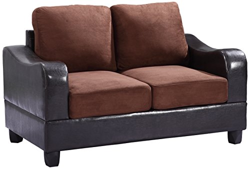Glory Furniture G626-L Living Room Love Seat, Chocolate
