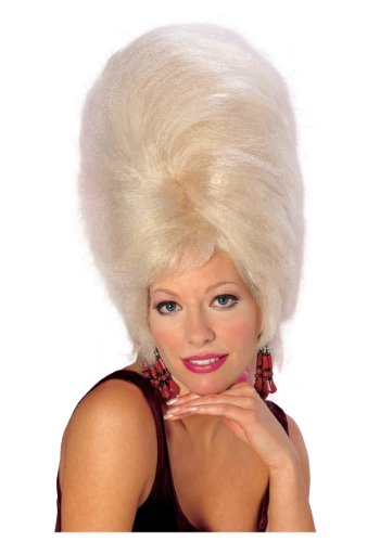 Rubie's Costume Large Blond Beehive, Yellow, One Size (Beehive Costume Wig)