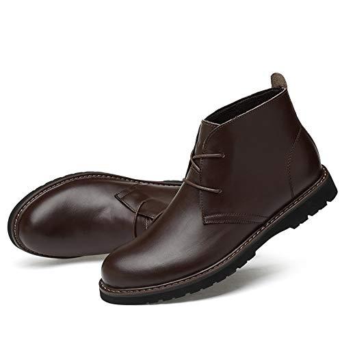 de tamaño del High OX los del algodón Cuero End Trabajo Brown Hombres Convencional Calientes del Zapatos Ocasionales de 47 de Opcional Botines Marrón Warm EU Suave Alto Color ASqfXq