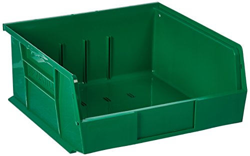 (Quantum QUS235 Plastic Storage Stacking Ultra Bin, 10-Inch by 11-Inch by 5-Inch, Green, Case of 6 )