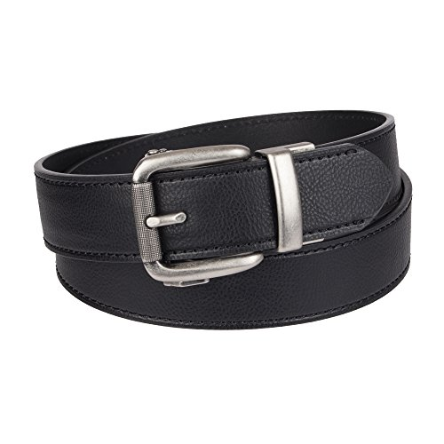Dickies Men's Perfect Adjustable Click to Fit Ratchet Belt, Black Stitch, Large (40-42) (Belt Mens Dickies)