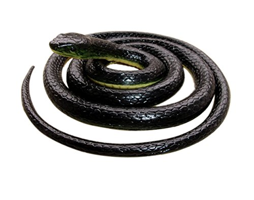 Realistic Rubber Black  Snake 52 Inch Long Scare Toy by Brandon super ()