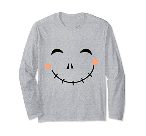 Last Minute Happy Scarecrow Halloween Costume Long Sleeve T-Shirt -