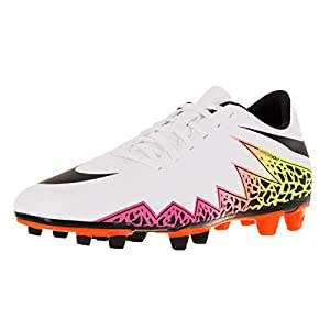 Nike Men's HyperVenom Phade II (FG) Soccer Cleat White/Total Orange/Volt/Black Size 11 M US