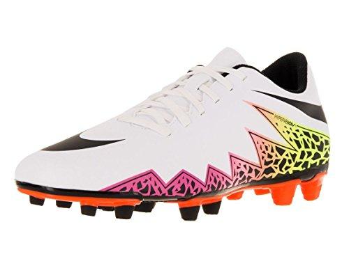 Nike Mens Hypervenom Phade Ii (fg) Fotboll Cleat Vit / Totala Orange / Volt / Svart