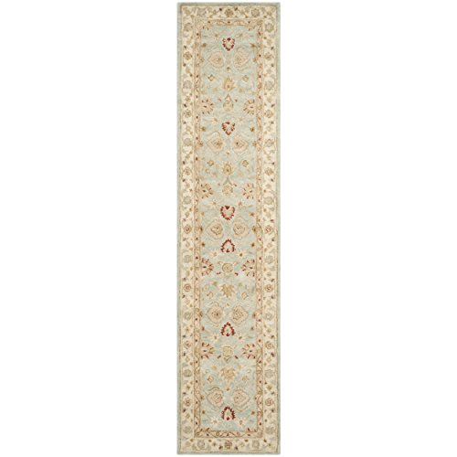 - Safavieh Antiquities Collection AT822A Handmade Traditional Oriental Grey Blue and Beige Wool Runner (2'6