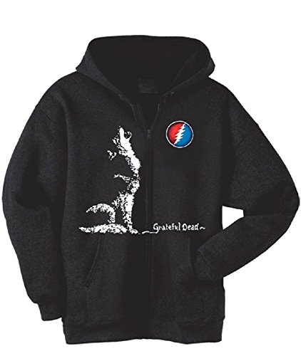 (Grateful Dead Hooded Sweatshirt Dire Wolf Zip Up Hoodie (XX-Large))