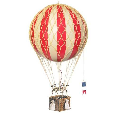 Hot Air Balloon Home Decor - Authentic Models Floating the Skies, Color: -