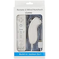 White Built-in Motion Plus Wii Remote + Nunchuck...