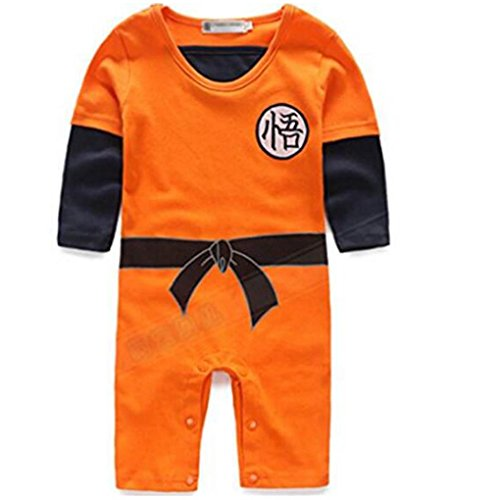 HOLRAN Baby Toddler Dragon Ball Goku Onesie Jumpsuit Romper 70