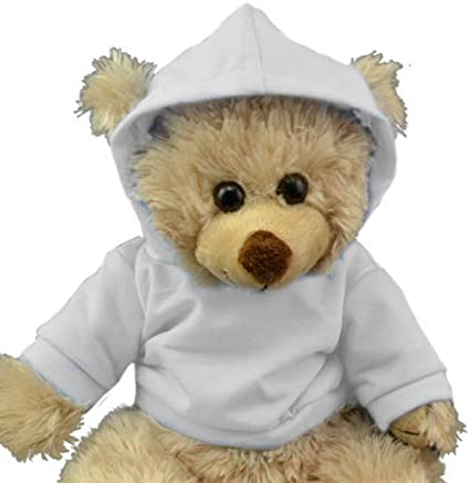 Vermont Teddy Bears and Make Your Own Stuffed Animals Personlized White Hoodie Tee 16 Teddy Bear Outfit Teddy Bear Clothes Fit 14-18 Build-a-Bear