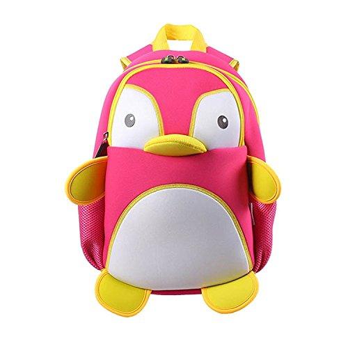 Coavas Toddler Kids Cute Cartoon Backpack Animal Shaped Shoulder Book Bag Gift - Cute Pengium Backpacks (Pink The Store Bookbags)