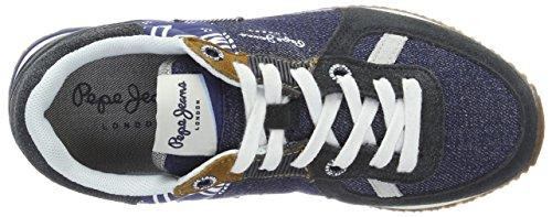 Pepe Jeans London Sydney Denim, Zapatillas para Niños Azul (Dk Denim)