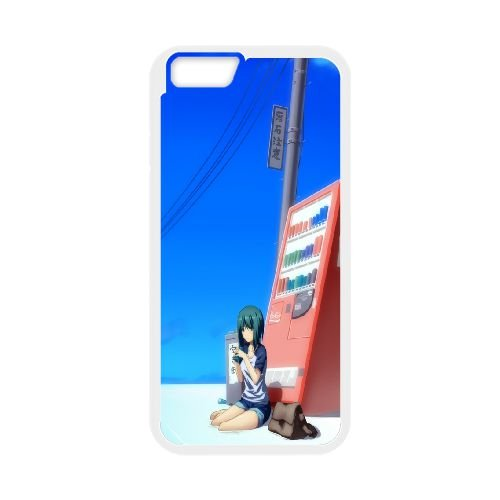 Sun Beach Girl Automatic Soft Drinks Sky Saturn 87241 coque iPhone 6 Plus 5.5 Inch cellulaire cas coque de téléphone cas blanche couverture de téléphone portable EEECBCAAN05543