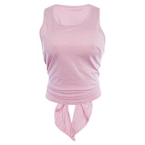 第九運営日曜日AngelSpace 女性のランニング?スポーツカットアウトバック無地タンクトップシャツ