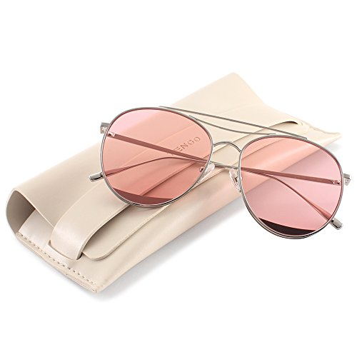 TRSELLWIER Round Frame Flat Lenses Novelty Teardrop Design Fashion Metal Frame Women Sunglasses ODD Style - - Frames Glasses Odd