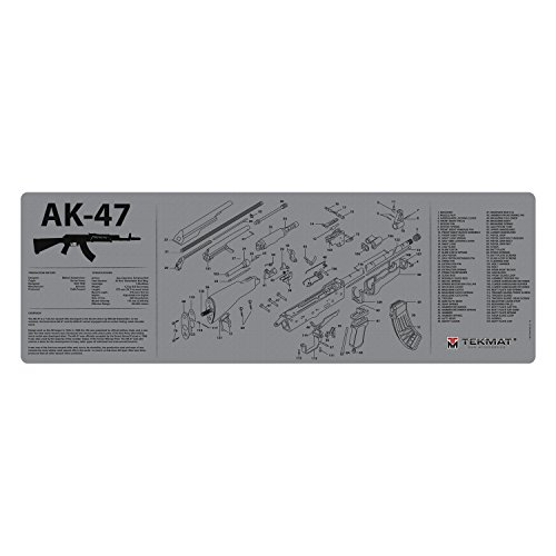 TekMat Gun Cleaning Mat for use with AK-47 - Grey