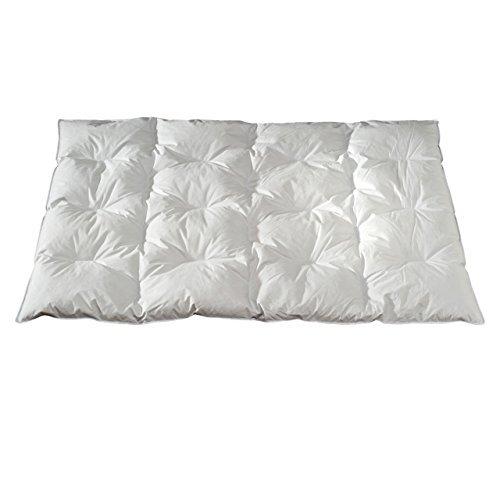 Feder- und Daunendecke BASIC 155x220 cm 15% Daune Karostepp Bett-decke Stepp-decke - Wärmestufe 5 Warm