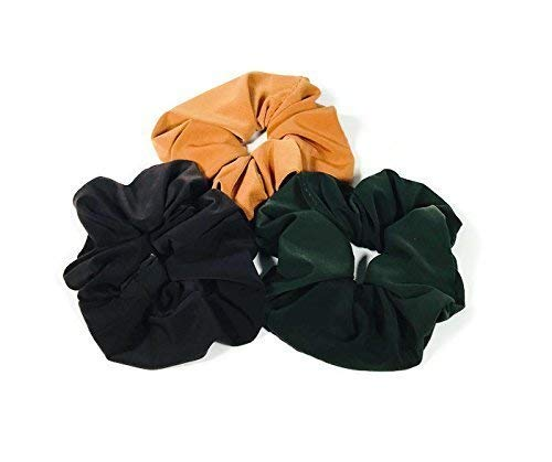 Set of 3 / Lycra Hair Scrunchies Athletic Scrunchies Swim Hair Ties Lycra Ponytail Holder Running Sports Hair Ties Made USA