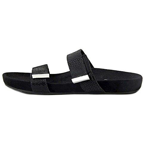 VIONIC Womens 341 Jura Leather Sandals Black