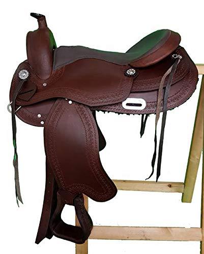 15\ Tree Buffalo Oiled Leather Western Saddle Tulsa – Full Quarter