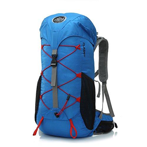 Bleu royal 35 litres SQI Piscine haut de gamme 35L Sac d'alpinisme, hommes et femmes, les loisirs randonnées, sac à dos léger imperméable sac d'équitation