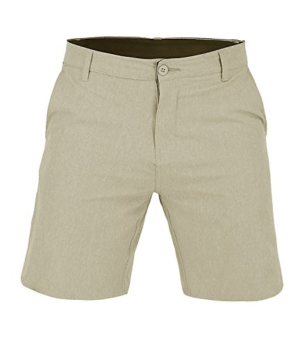 US Apparel Men's Walker Quick Dry Microfiber Swim Shorts, Khaki, (Khaki Apparel)