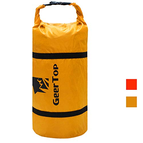 Geertop Ultralight 20D Waterproof Adjustable Tent Compression Bag Duffel Bag - for Camping Outdoor Sports (Yellow, for 2 to 3 Men Tent)