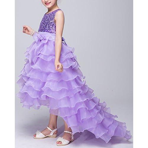 be36bc872173 De alta calidad Qitun Princesa Traje Vestido De Fiesta Niña Flor  Lentejuelas Para Boda Fiesta Carnaval
