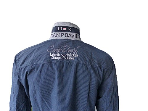 CAMP DAVID HERREN HEMD CHICAGO SAILING CUP II BLUE NAVY M