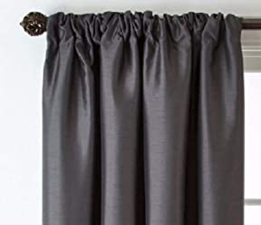 Royal Velvet Plaza Rod Pocket/Back-Tab Curtain Panel 50