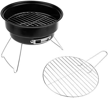 YDHWT Barbecue Portable Grill antiadhésif Surface Folding Barbecue Barbecue au Charbon Ronde Camping en Plein air de Pique-Nique BBQ Outil