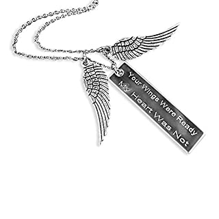 Your Wings Were Ready My Heart Was Not Bar Necklace Memorial Gift Loss of Loved One